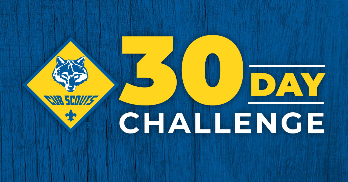 Cub Scout 30-Day Challenge