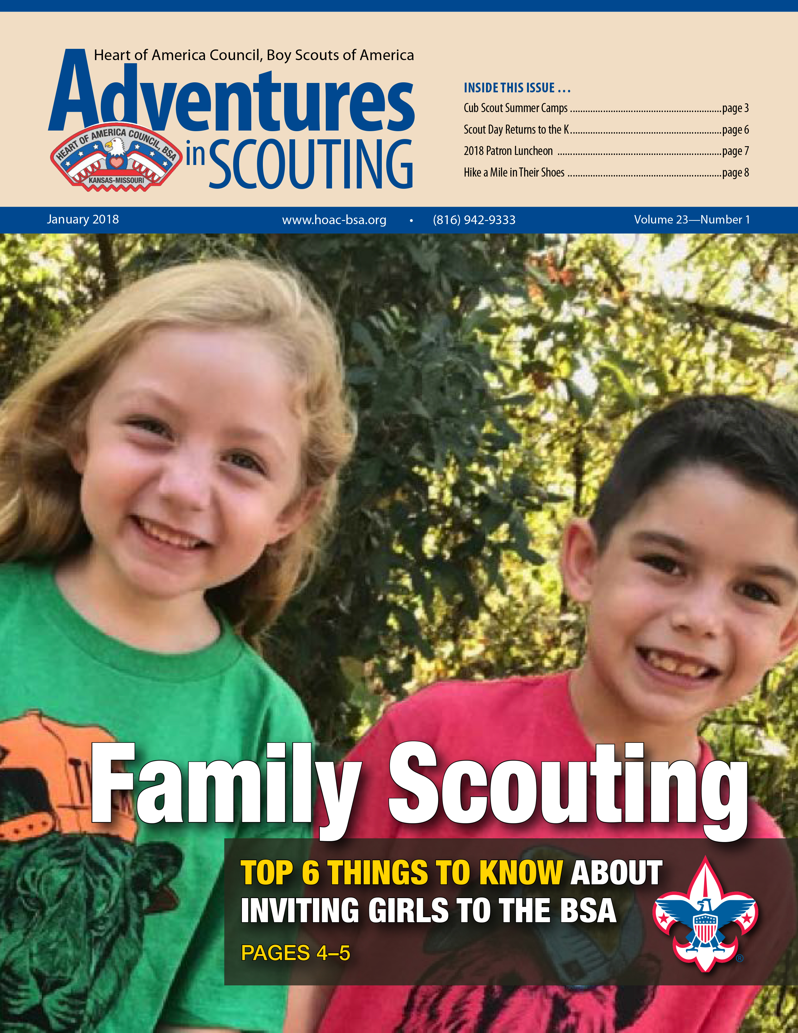 Adventures in Scouting Newsletter - January