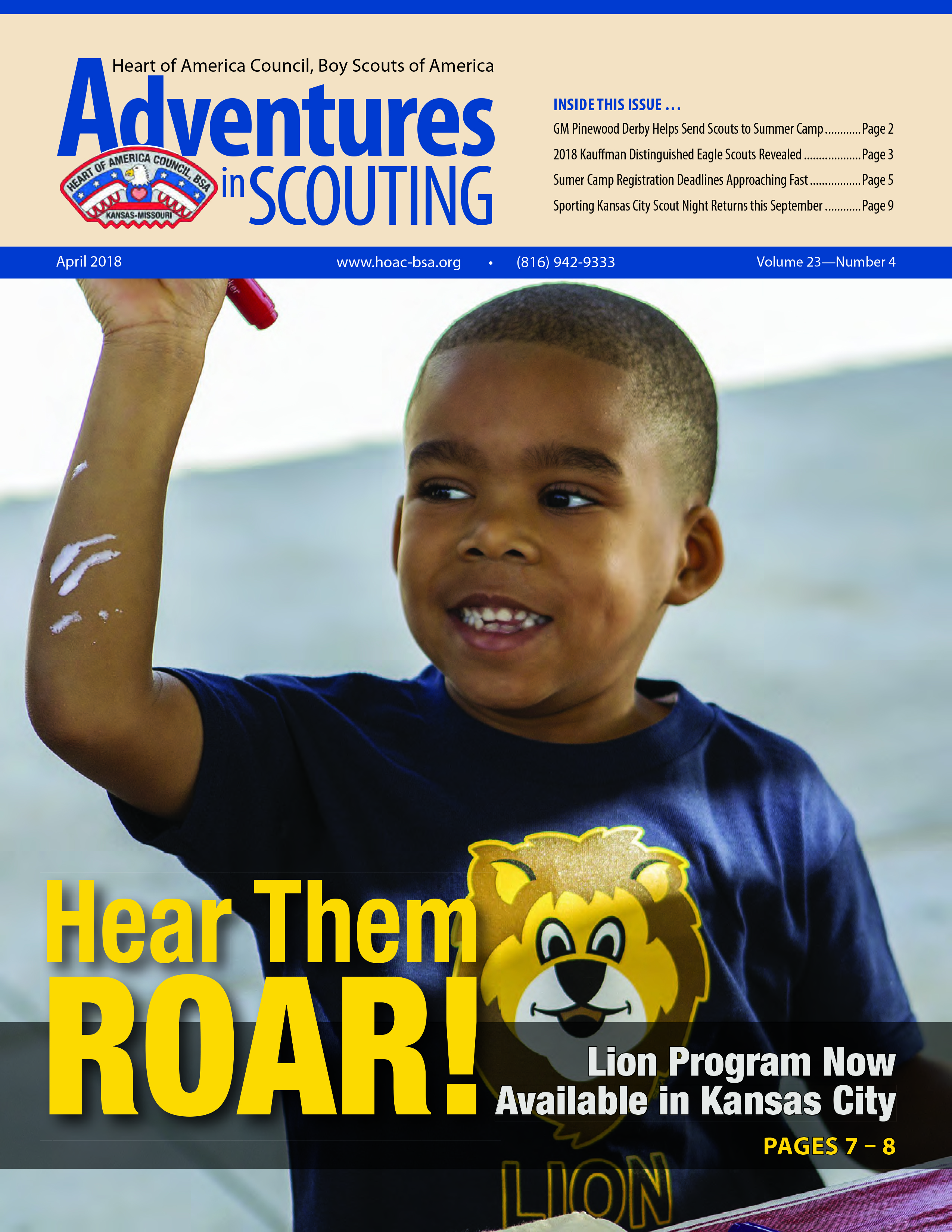Adventures in Scouting Newsletter - April