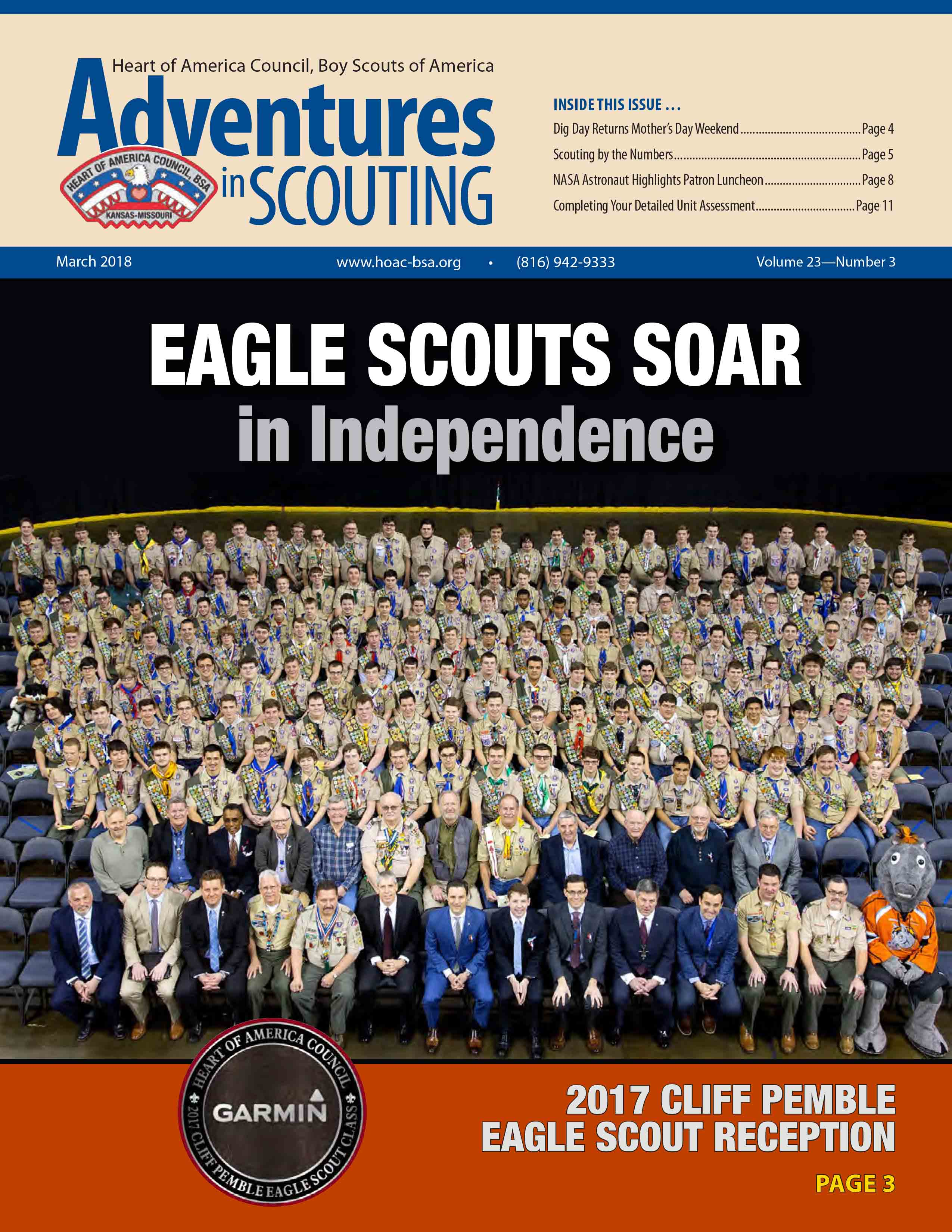 Adventures in  Scouting Newsletter - March