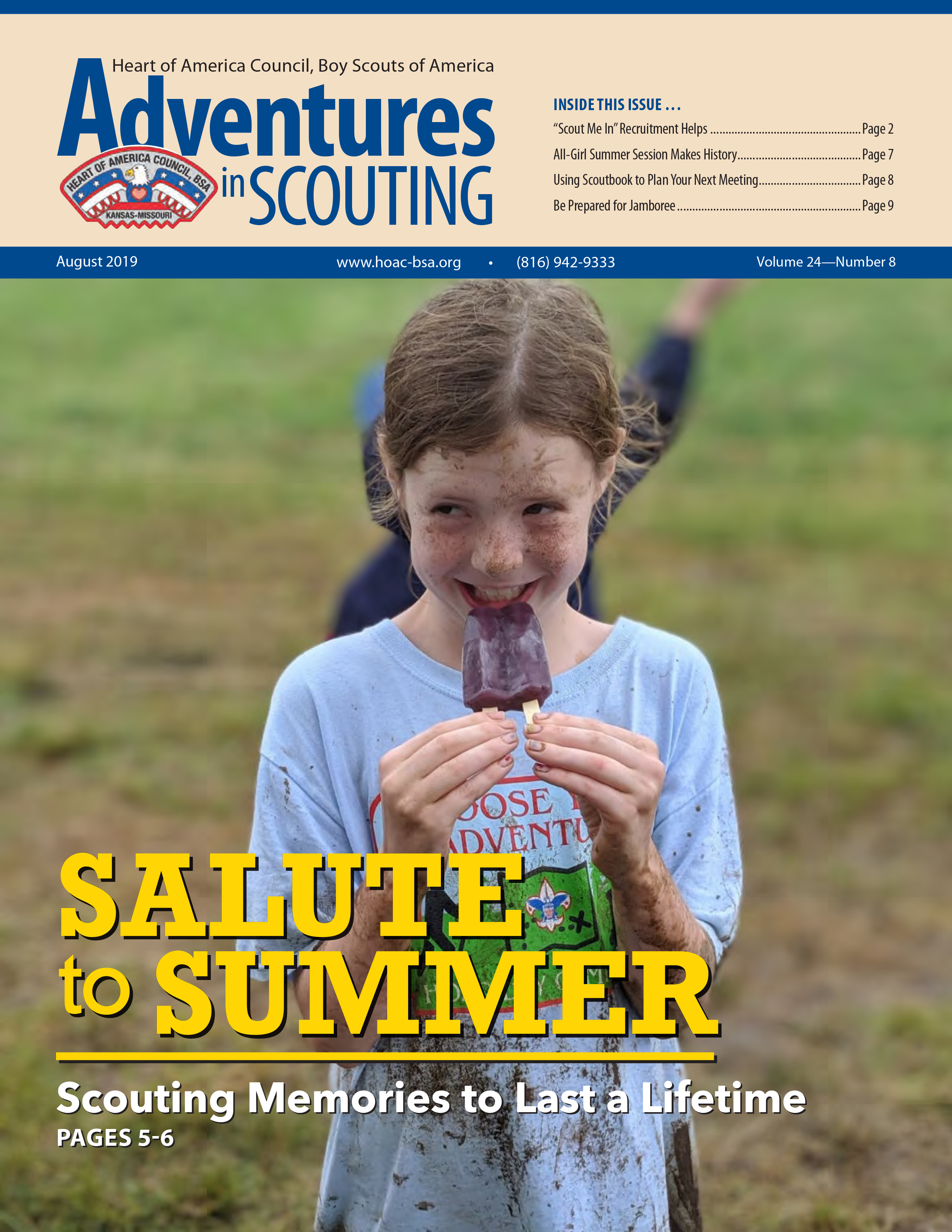 August Adventures in Scouting Newsletter